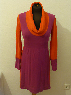 d77e3e9eb48e13 Comma Strickkleid Kleid Winterkleid Wolle Kaschmir Gr. 38 M lila orange wie  NEU