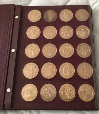 1776-1975 Franklin Mint History Of The United States Solid Bronze 200 Coin Set