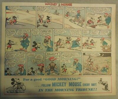 Mickey Mouse Sunday Page by Walt Disney from 6/23/1940 Half Page Size
