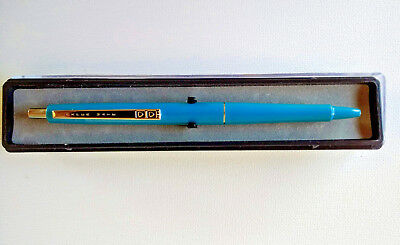 Vintage Papermate Contour 98 Ballpoint Pen - Blue & Chrome Made in USA