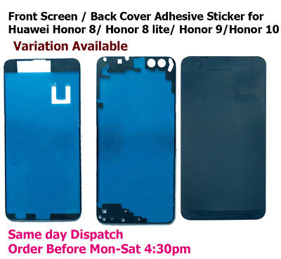 Huawei Honor 8 / Honor 8 lite / Honor 9 / Honor 10 Front + Back Adhesive Sticker