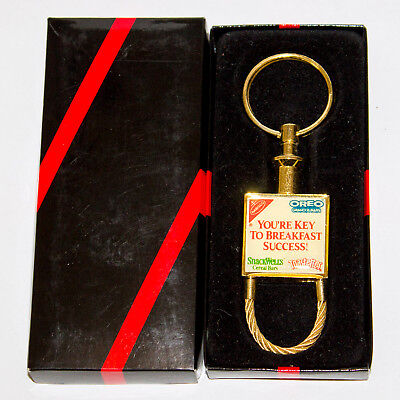 1990's NABISCO Oreo, SnackWell's & Toasterettes KEY RING in Original Box!