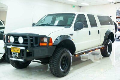 2004 Ford F250 RN XLT (4x4) White Automatic 4sp A Crew Cab Pickup