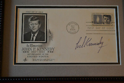 1964 FDC Envelope Ted Kennedy Autograph, Photo of Signing, Letter of Cert.