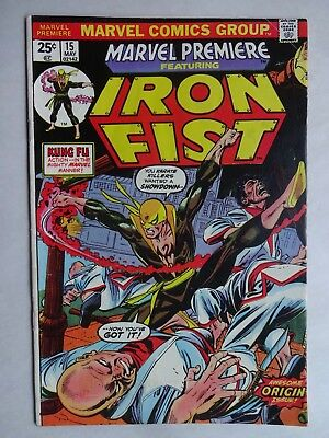 Marvel Premiere #15  1st App. of Iron Fist  1st Dragon Kings  Value Stamp Intact