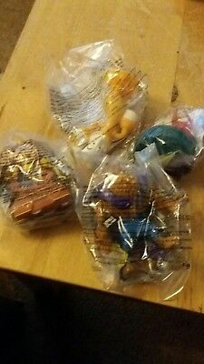 Mcdonalds happy meal toys vintage Beauty And The Beast 1998 Set Of 4