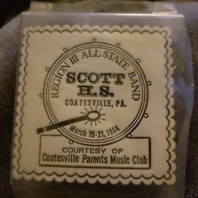 Vintage ROYAL Catch All Coasters Scott H S Coatesville PA 1964 SEALED Pack/18
