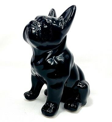 French Bulldog Frenchie Glossy Black Figurine Statue Home Decor *NEW*