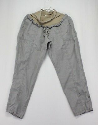 Motherhood Maternity XL Khaki Beige Maternity Pregnancy Cargo Pants Stretch