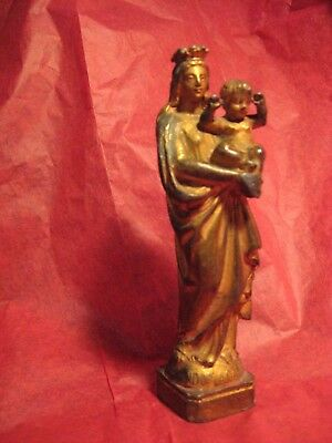Antique Virgin Mary & Jesus Statue Notre Dame De La Garde Marseille Provence