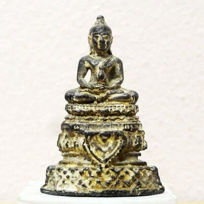 Thai Buddha Amulet Old LP Statue Pendant AYUTTHAYA Khmer Art Antique gorgeous