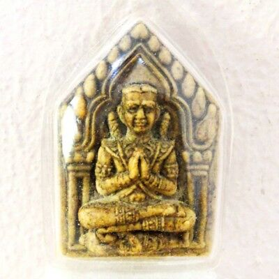 Thai Buddha Amulet Khun Paen LP Tim Pendant AYUTTHAYA Buddhist Antique gorgeous