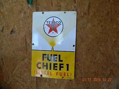 Dated 1962 Texaco Porcelain Pump Plate Sign