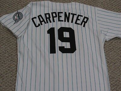 f6f78625fb7978 size 48 1992 1993 FLORIDA MARLINS Game jersey from expansion draft CARPENTER