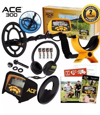 Garrett Ace 300 Metal Detector With Waterproof Search Coil