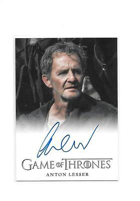 Game of Thrones Season 4 Anton Lesser as Qyburn Full Bleed Auto Autograph