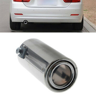 Muffler Tip Stainless Steel Car Universal Rear Round Exhaust Tail Pipe Throat NB