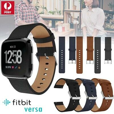 Genuine Leather Replacement Wrist Watch Band Strap For Fitbit Versa Smartwatch