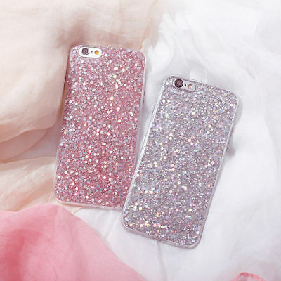 For iPhone 6s 6 plus 8 7 Plus Bling Glitter Sparkle Protective Phone Case Cover