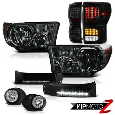 07-13 Toyota Tundra SR5 Tail Lights Headlamps DRL Strip Euro Clear Fog Assembly