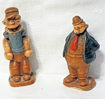 Popeye And Wimpy Pressed Wood Figures Kfs 1944