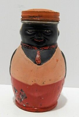 Small Vintage Figure Jar of a Black Man