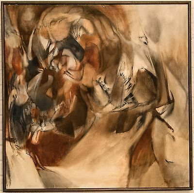 """Robert McChensney Large Abstract titled """"Lonely Cry"""" ca. 1960 Signed Original"""