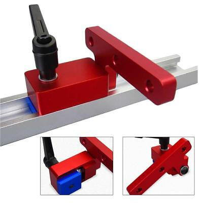 Woodworking Miter Track Stop Chute 30mm T-slot Track Accessory Tool Useful UK TT