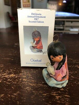 DeGrazia 1987 Ornament By Goebel - In Original Box