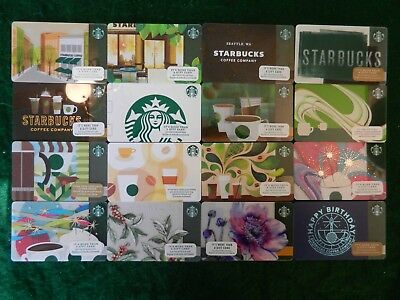 Jumbo Lot Of Forty-Four (44) Different Collectible Only *starbucks* Gift Cards