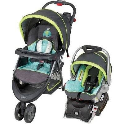 Baby Trend EZ Ride 5 Hounds Tooth Travel System Single Seat Stroller