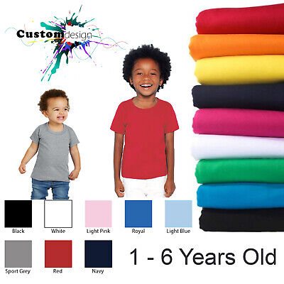 Gildan T-SHIRT Basic Blank Plain Tee Top Baby Toddler Youth Kids Boy Girl Cotton