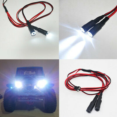 2 LEDs 10mm/13mm Angel & Demon Eyes LED Headlight Bulb for 1/10 RC Truck Cars