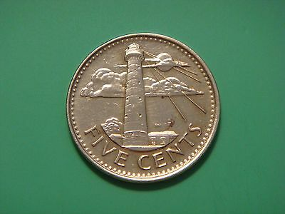 Barbados 5 cents 2014 Lighthouse