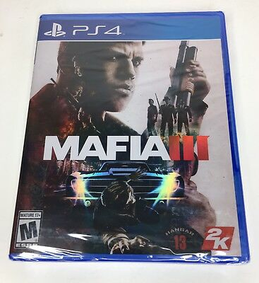 PS4 Mafia III -  PlayStation 4 Game Sony New Factory Sealed 2016 Mafia 3 (NIB)