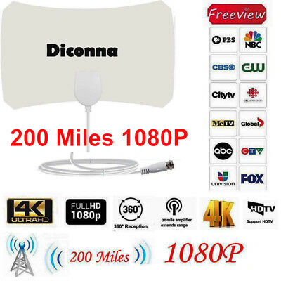 200 Mile Range Antenna TV Digital HD Skylink 4K Antena Digital Indoor 1080P HDTV