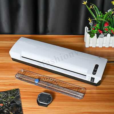 A3 Photo Laminator Cold Hot Pouch Paper Film Document Thermal Machine Trimmer