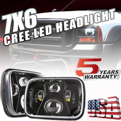 7X6'' CREE LED Headlights DRL for Ford Super Duty Truck F550 F600 F650 F700 F750