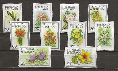 Trinidad & Tobago, assortment of flower definitives w/1986 date MH