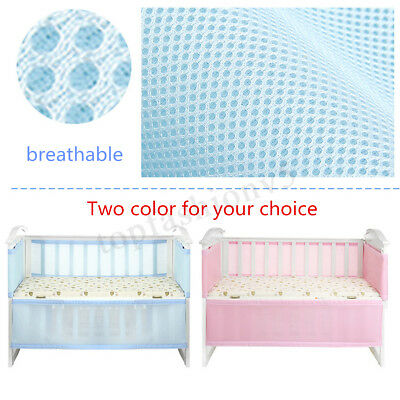 2pcs baby bumpers Cot Crib Air Mesh Pad Breathable Summer Safety Protector