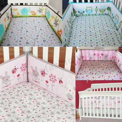 4Pcs/set Animal Baby Infant Cot Crib Bumper Toddler Nursery Safety Protector 1