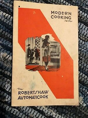 Vintage Robertshaw Automaticook Modern Cooking Thermostat Owner's Manual 1930S