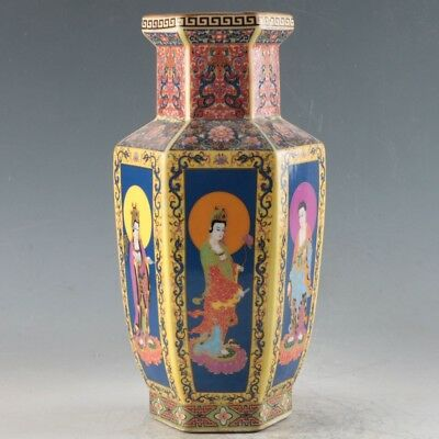 Chinese Enamel Porcelain Hand Painted Vase Made During The Qianlong Period FLC11
