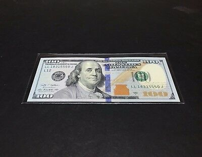 20 SEMI-RIGID Vinyl Money Protector Sleeve US Dollar Bill CURRENCY HOLDERS BCW