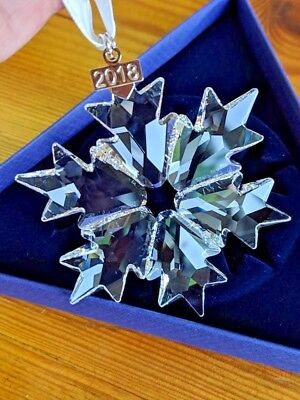Swarovski Large Annual Christmas Ornament 2018 Snowflake #5301575