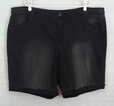 Lane Bryant Women's Black Stretch Shorts Size 28