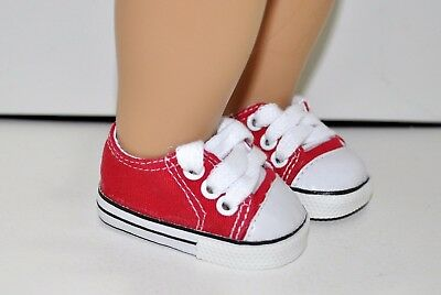 """American Girl Dolls Our Generation Gotz 18"""" Dolls Clothes Red Sneakers Runners"""