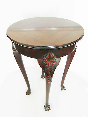 PEDESTAL TABLE ENGLISH feet claws on spheres - solid mahogany year 60 20th