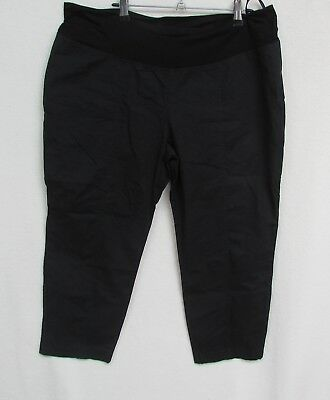 RIPE MATERNITY size XL Pull On Black Crop Pants as new