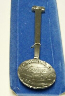 Vintage FORT genuine Pewter Collectible Souvenir Spoon Williamsburg Virginia